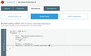 Bucket-Policy für S3 um Website hosten zu können
