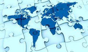 Eine Landkarte aus Puzzleteilen