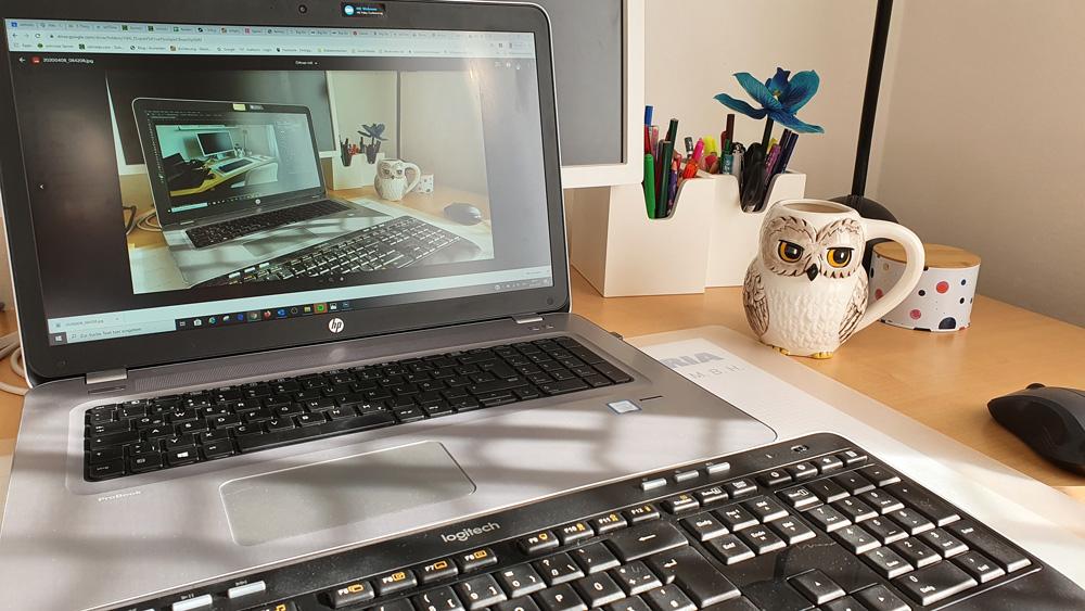 Foto eines Home-Office Platzes