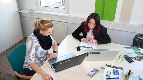 Der solvistas Campus hilft neuen MitarbeiterInnen beim Einstieg in das Unternehmen.