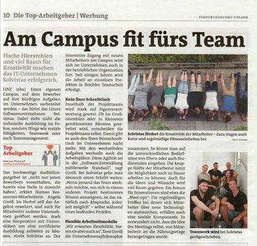 Stadtrundschau Bericht zum solvistas Campus
