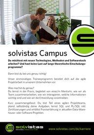 Informationen zum solvistas Campus